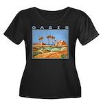 oasis Women's Plus Size Scoop Neck Dark T-Shirt