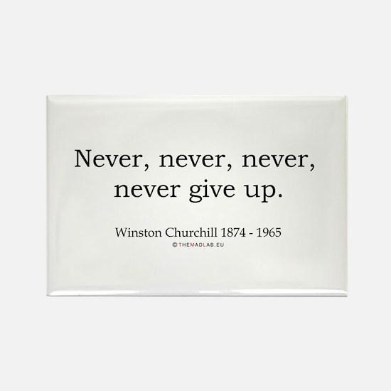 Winston Churchill 7 Rectangle Magnet