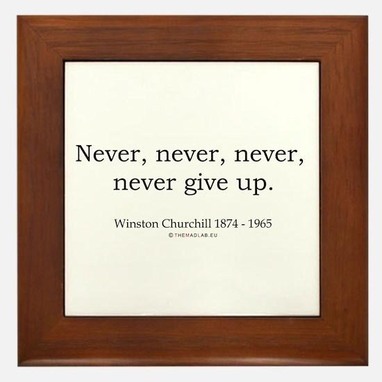 Winston Churchill 7 Framed Tile