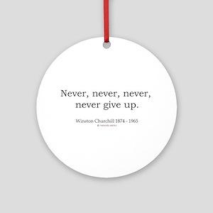Winston Churchill 7 Ornament (Round)