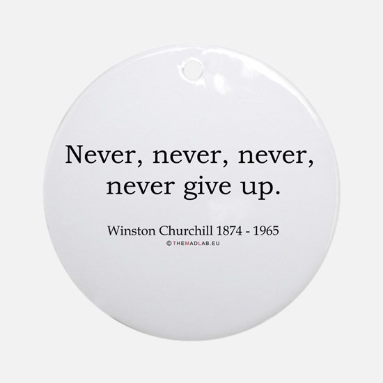 Winston Churchill 7 Ornament (Round)