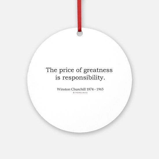 Winston Churchill 8 Ornament (Round)