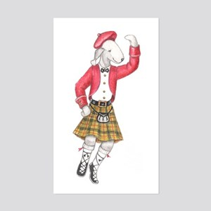 Bedli Scottish Dancer Rectangle Sticker