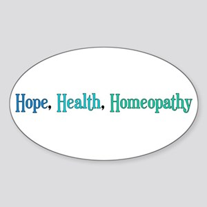 Homeopathy Gift Oval Sticker