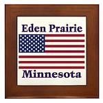 Eden Prairie Flag Framed Tile