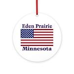 Eden Prairie Flag Ornament (Round)