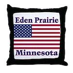 Eden Prairie Flag Throw Pillow