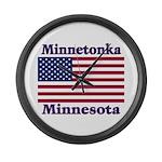 Minnetonka Flag Large Wall Clock