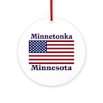 Minnetonka Flag Ornament (Round)