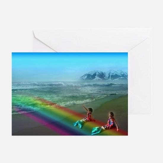 Cute Rainbow mountain Greeting Cards (Pk of 20)