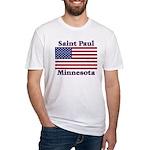 Saint Paul Flag Fitted T-Shirt