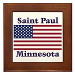 Saint Paul Flag Framed Tile
