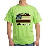 Saint Paul Flag Green T-Shirt