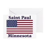 Saint Paul Flag Greeting Card