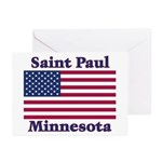 Saint Paul Flag Greeting Cards (Pk of 10)