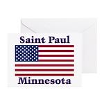 Saint Paul Flag Greeting Cards (Pk of 20)