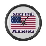 Saint Paul Flag Large Wall Clock