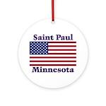 Saint Paul Flag Ornament (Round)