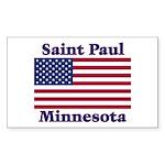 Saint Paul Flag Rectangle Sticker 50 pk)