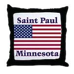 Saint Paul Flag Throw Pillow