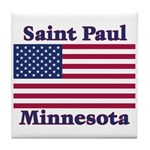 Saint Paul Flag Tile Coaster