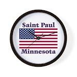 Saint Paul Flag Wall Clock