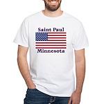 Saint Paul Flag White T-Shirt