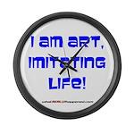I am art Large Wall Clock
