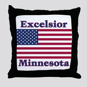 Excelsior Flag Throw Pillow