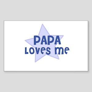 Papa Loves Me Rectangle Sticker