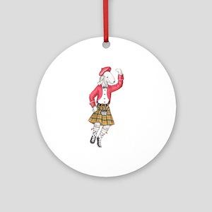 Bedli Scottish Dancer Ornament (Round)