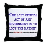 Last Official Act Throw Pillow