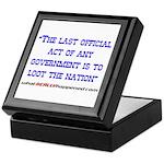 Last Official Act Keepsake Box
