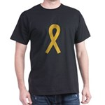 Gold Ribbon Dark T-Shirt