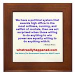 POLITICALPOWER Framed Tile