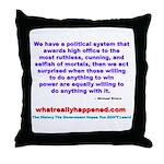 POLITICALPOWER Throw Pillow