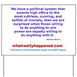 POLITICALPOWER Yard Sign