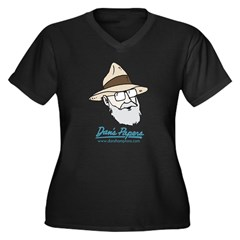Dan Man Women's Plus Size V-Neck Dark T-Shirt