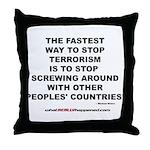 ENDING TERRORISM Throw Pillow