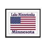 Lake Minnetonka Flag Framed Panel Print