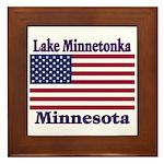 Lake Minnetonka Flag Framed Tile