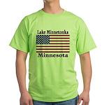 Lake Minnetonka Flag Green T-Shirt