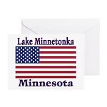 Lake Minnetonka Flag Greeting Cards (Pk of 10)
