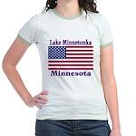 Lake Minnetonka Flag Jr. Ringer T-Shirt