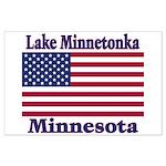 Lake Minnetonka Flag Large Poster