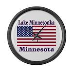 Lake Minnetonka Flag Large Wall Clock