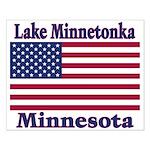 Lake Minnetonka Flag Small Poster