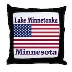 Lake Minnetonka Flag Throw Pillow