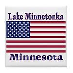 Lake Minnetonka Flag Tile Coaster
