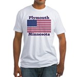 Plymouth Flag Fitted T-Shirt